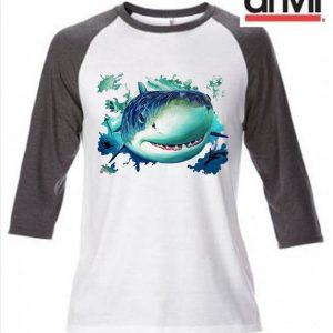 Shark Design Baseball Top