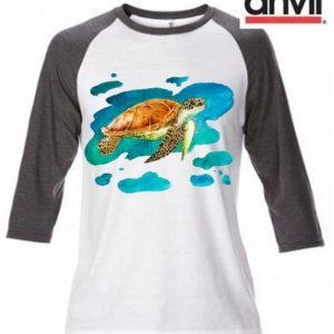 Turtle Design Baseball Top